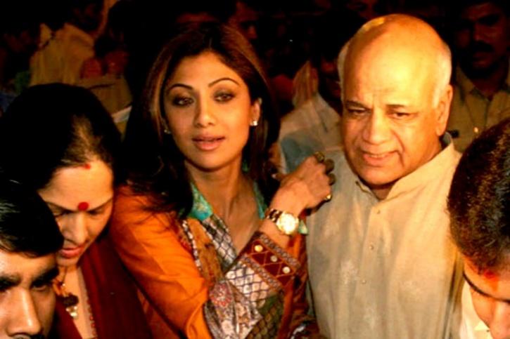 Shilpa Shetty And Daddy