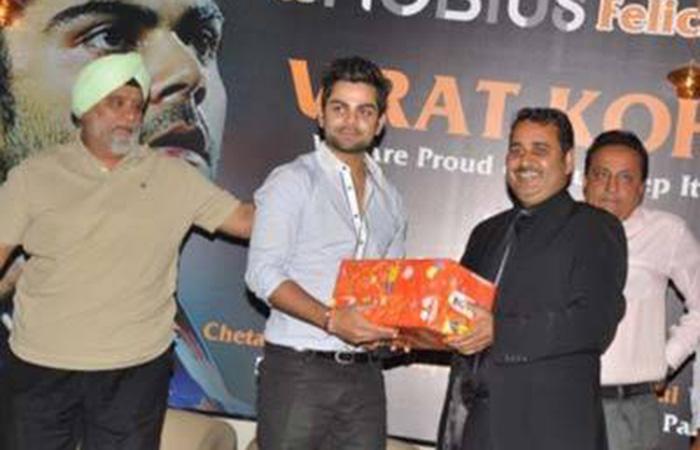 Virat Kohli With His Mentor
