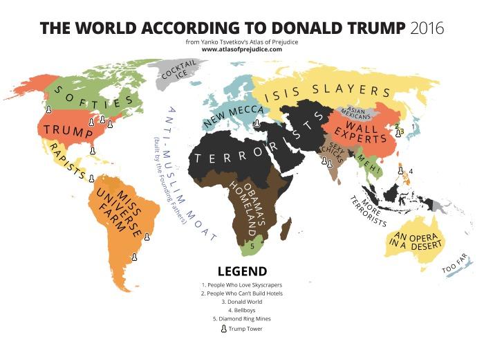 Trump, map