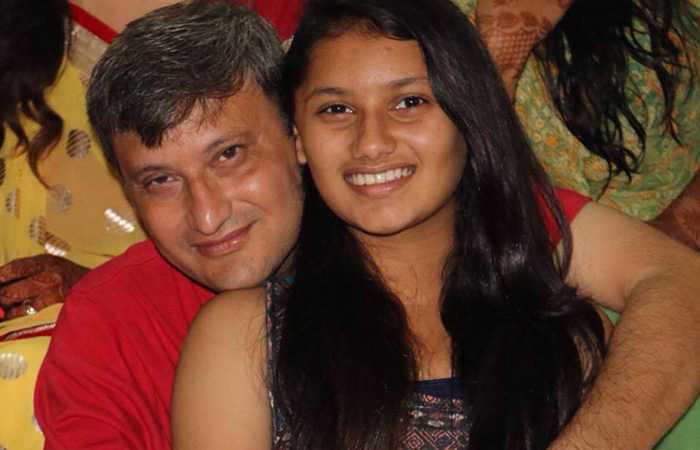 Varija Shah With Her Father