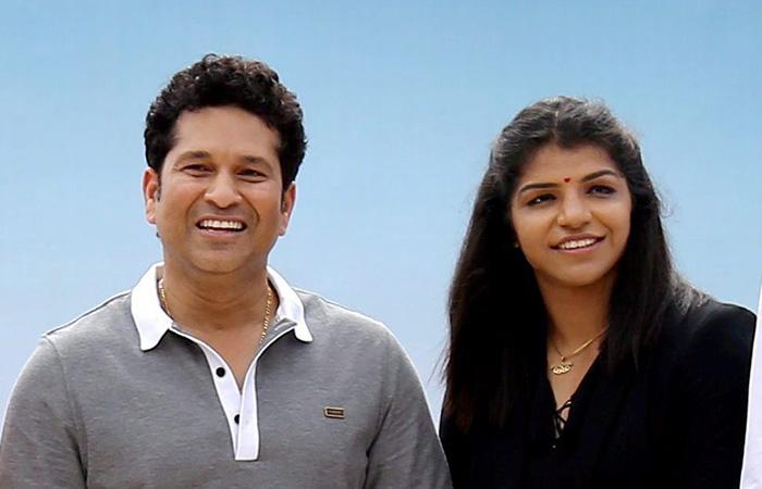 Sachin and Sakshi Malik