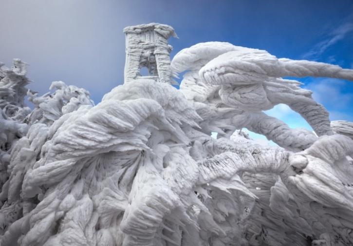 Natural ice sculptures in Slovenia