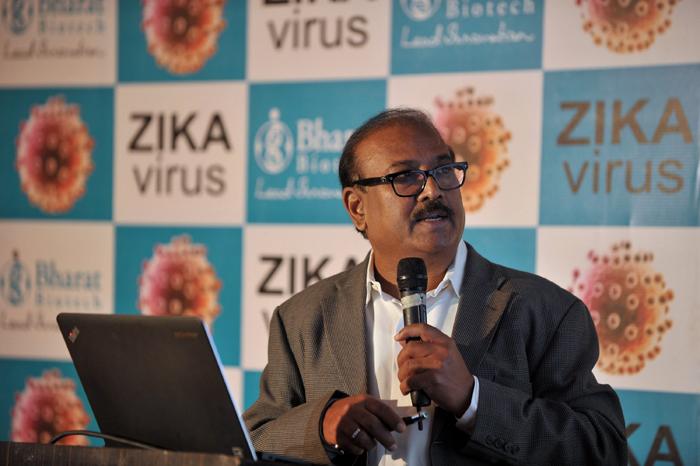 Chairman of Bharat Biotech Krishna Ella