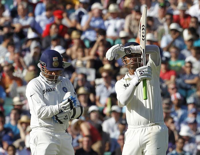 virender sehwag with rahul dravid