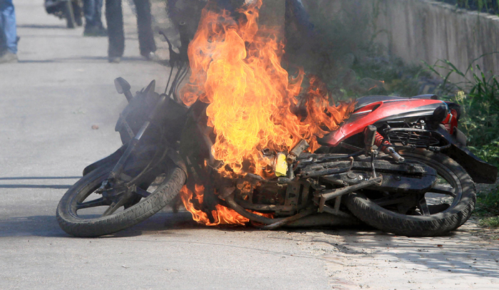 NRI Sets Fire To His In-Laws' Bike After He's Banned From Meeting His Wife!