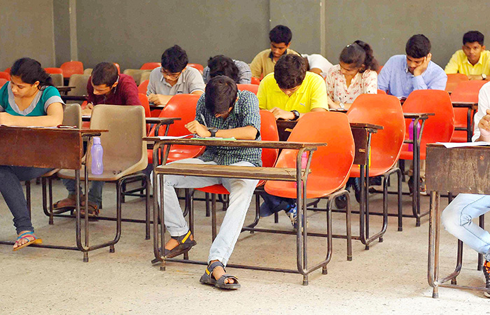 Student in Exam Hall
