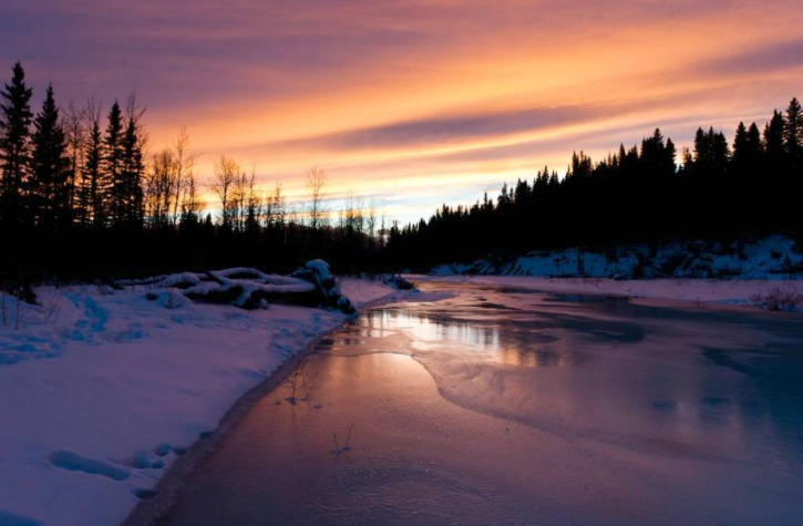 The Elbow River in southern Alberta, Canada
