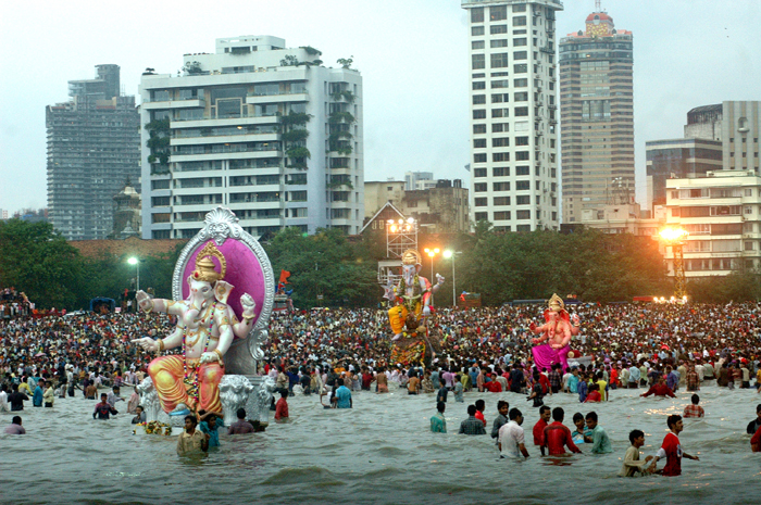Ganpati Visarjan In Maharashtra