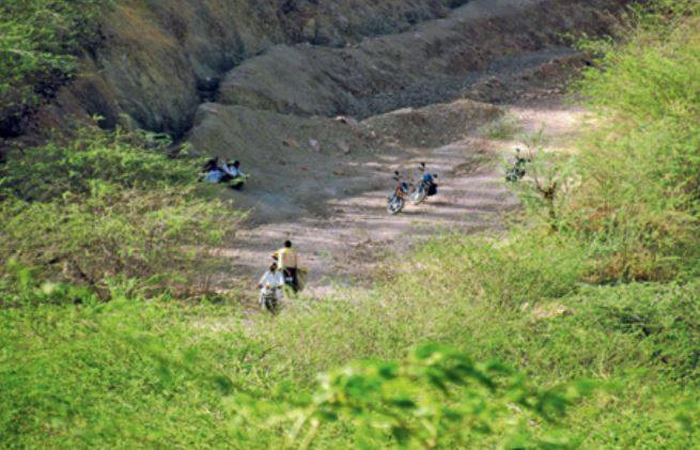 Indergarh hill range