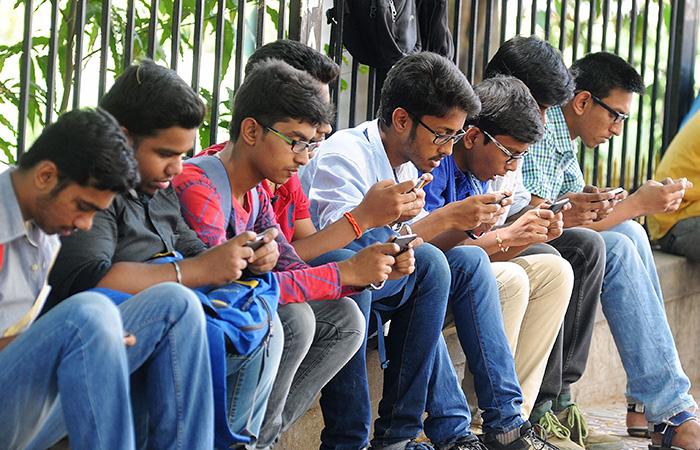 People Using Phone