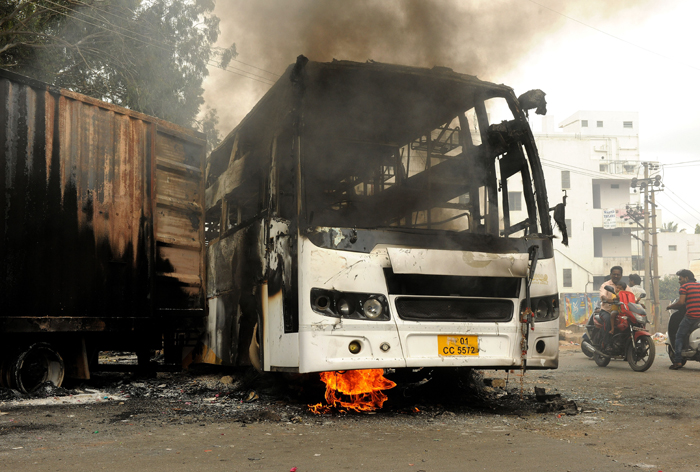 burnt buses