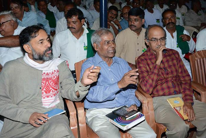 Yogendra Yadav and Prashant Bhushan
