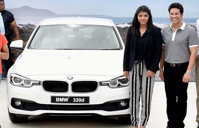 Sakshi Malik with Her BMW
