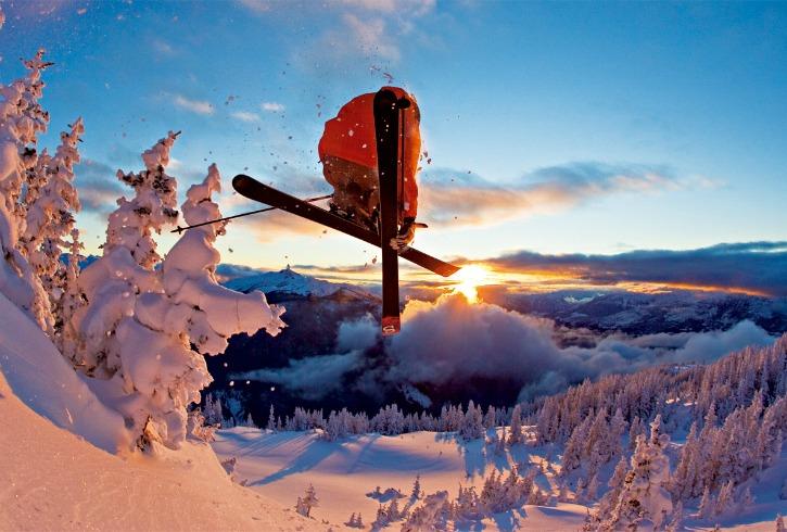 Sunset skiing in Obergurgl-Hochgurgl