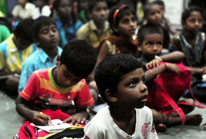 Education to slum children