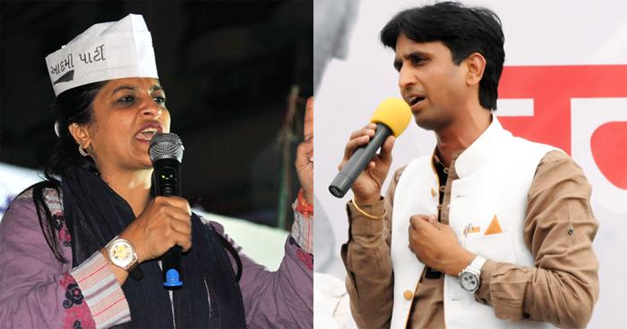 Kumar Vishwas and Shazia Ilmi