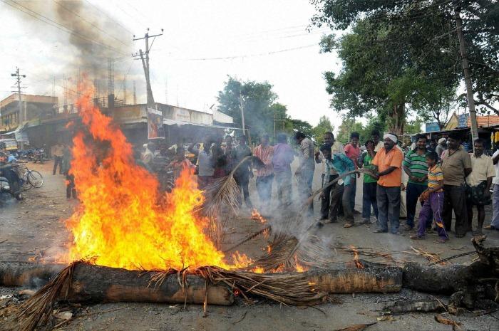 Cauvery Protest