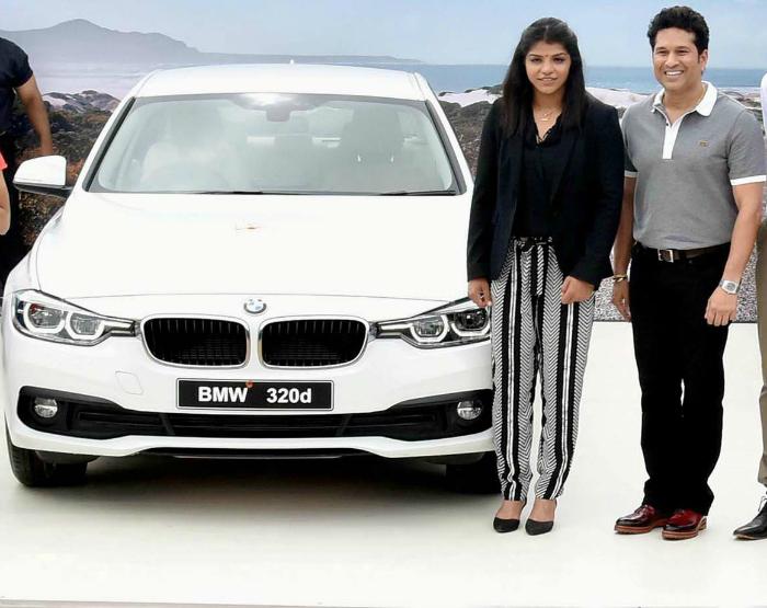 Sakshi with BMW