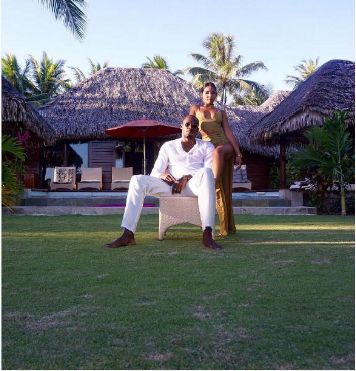 Bolt with girlfriend