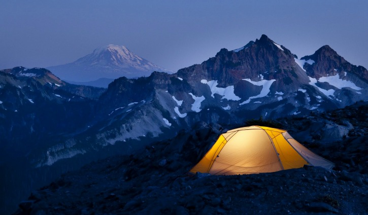 camping on the hills