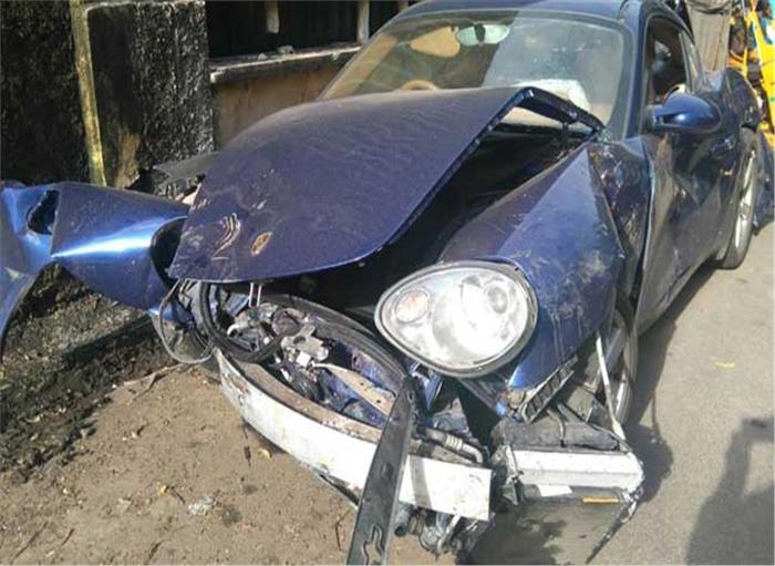 Porsche car hit