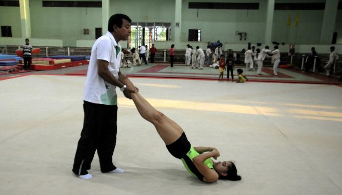 Dipa with coach