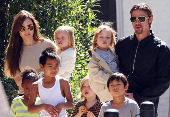 Brangelina with kids