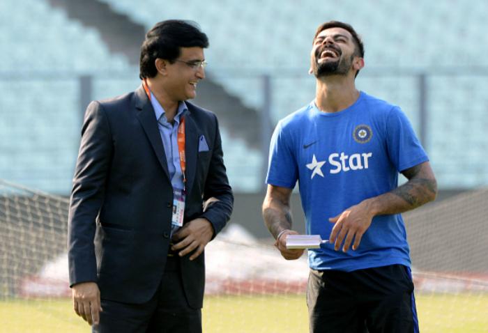 Ganguly with Kohli