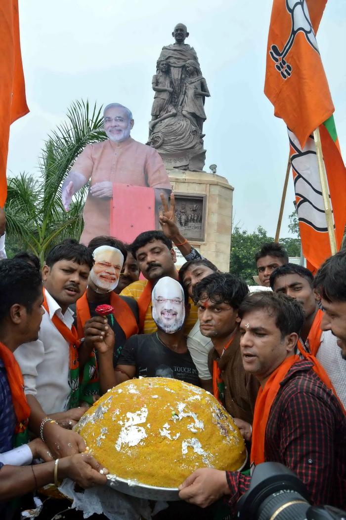 BJP workers in Patna