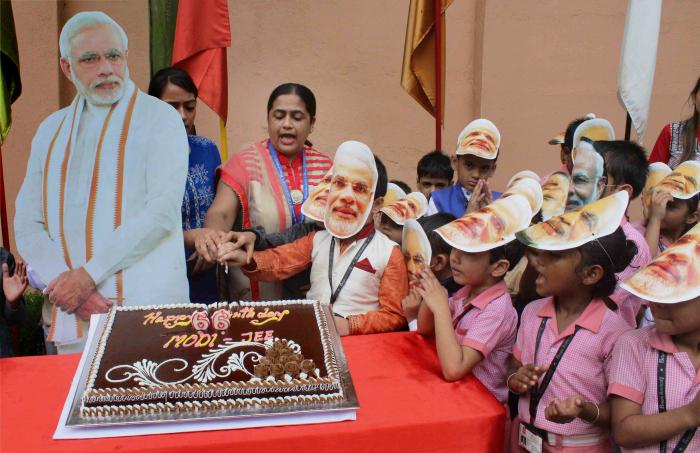 Modi cake in Siliguri