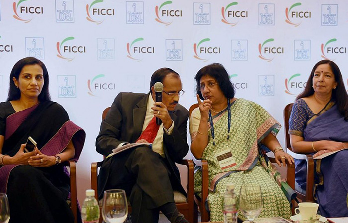 Chanda Kochhar, Arundhati Bhattacharya and Shikha Sharma