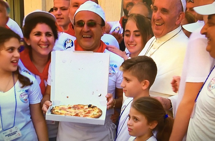 Pizza lunch at the Vatican