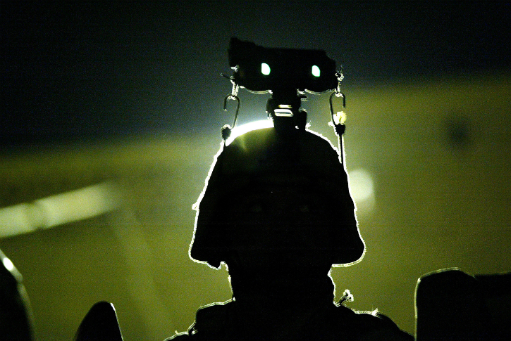 Ballistic helmets with night vision goggles