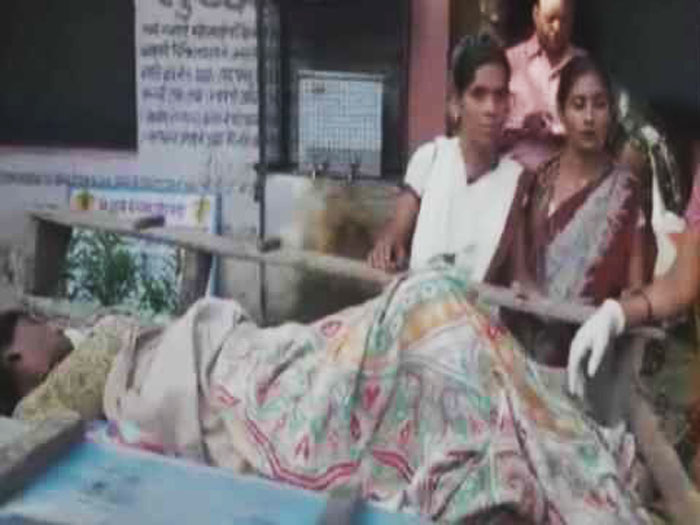 woman delivers baby in horse cart