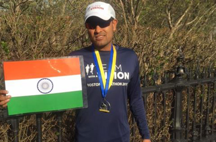 Sagar Baheti Boston Marathon