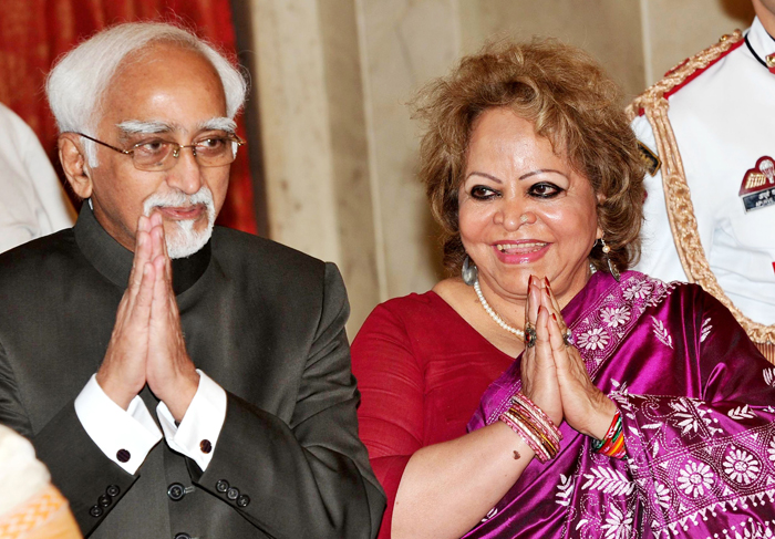 Vice President Hamid Ansari Salma Ansari