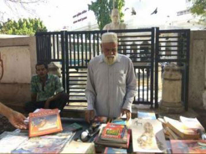 Why a retired school principal from Ahmedabad is selling books on footpath