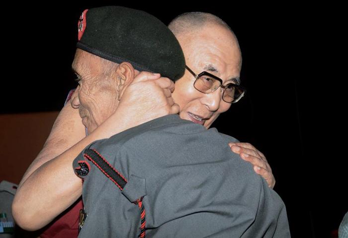 Dalai Lama with Naren Chandra Das in Guwahati