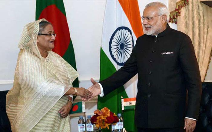 Pm Modi with PM Sheikh Hasina