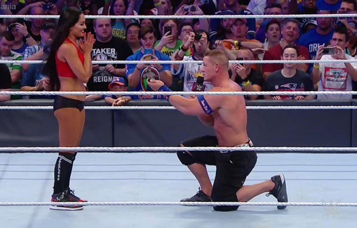 John Cena and his girlfriend Nikki Bella