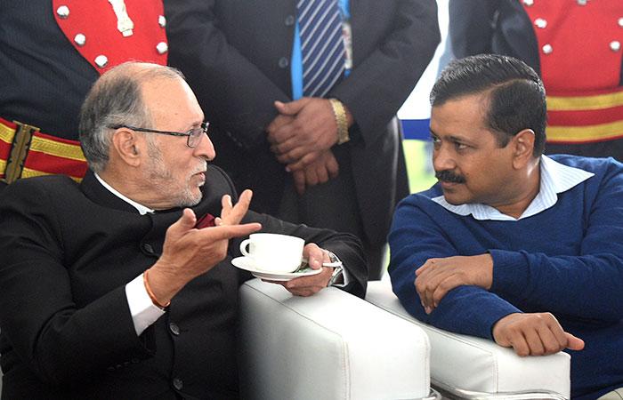 Anil Baijal and Arvind Kejriwal