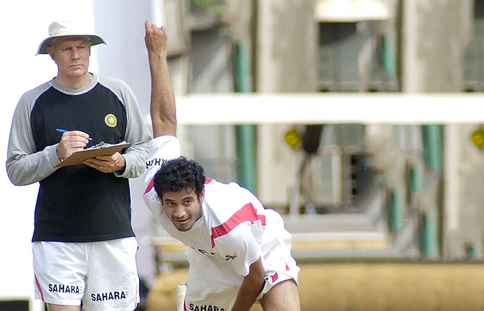 Greg Chappell and Irfan Pathan