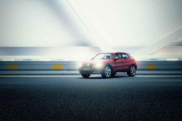 miniature toy car shoot for Audi