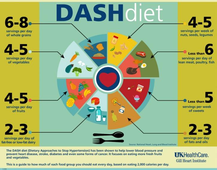 breakdown of the DASH diet