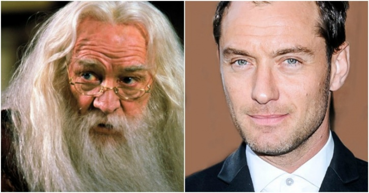Richard Harris, Jude Law, Dumbledore