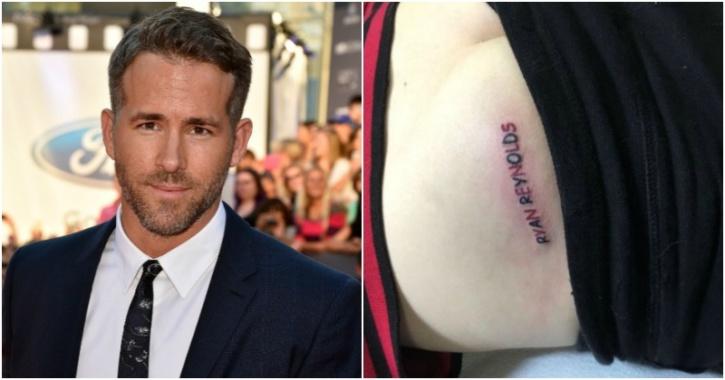 Ryan Reynolds, butt tattoo