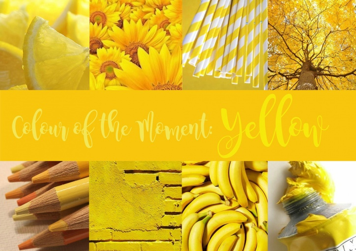 Yellow is the new colour of happiness