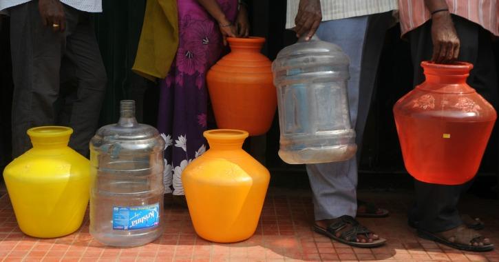 Empty water vessels