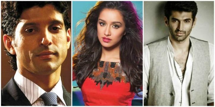 Farhan, Shraddha and Aditya Roy Kapoor