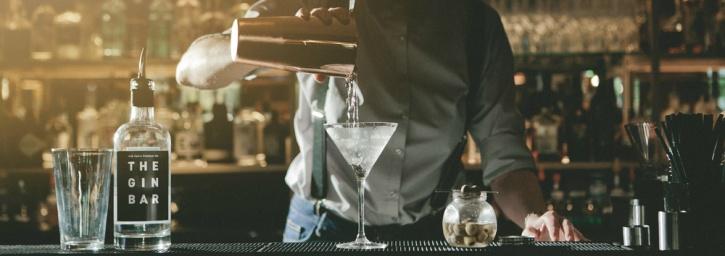 Drinking Gin at a bar